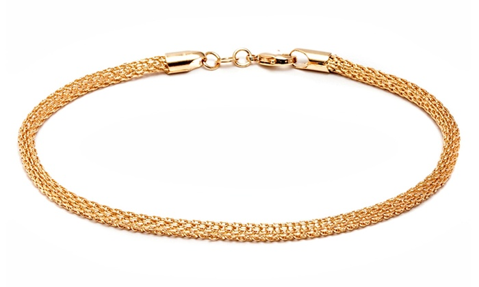 anklet goods deals bracelet ankle gg plated bracelets ca gold groupon