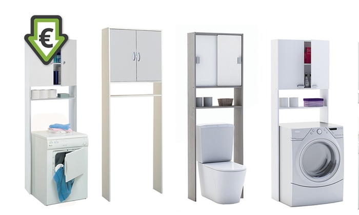 Mobili da bagno per lavatrice groupon goods - Mobili salvaspazio bagno ...