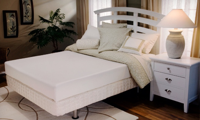 The Bed Store - Multiple Locations: Twin, Full, or Queen Serta Apple Valley Memory-Foam Mattress Set at The Bed Store (Up to 56% Off)