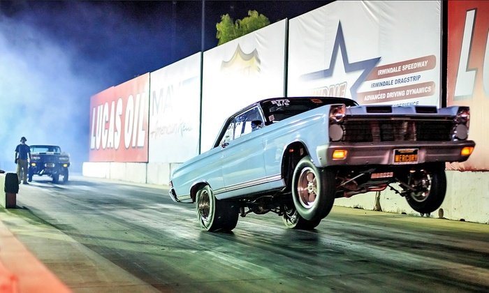 Irwindale Event Center - Irwindale: Drag-Strip Spectator Packages with Meals and Go-Kart Races for Two or Four at Irwindale Event Center (50% Off)