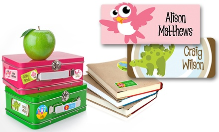 Personalized Children's Name Label 42-Pack from Dinkleboo