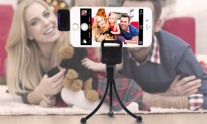 Aduro U-Snap Wireless Selfie Remote Photo Clicker with Tripod