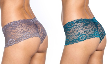 Women's Floral Lace Boyshorts (2- or 3-Pack)