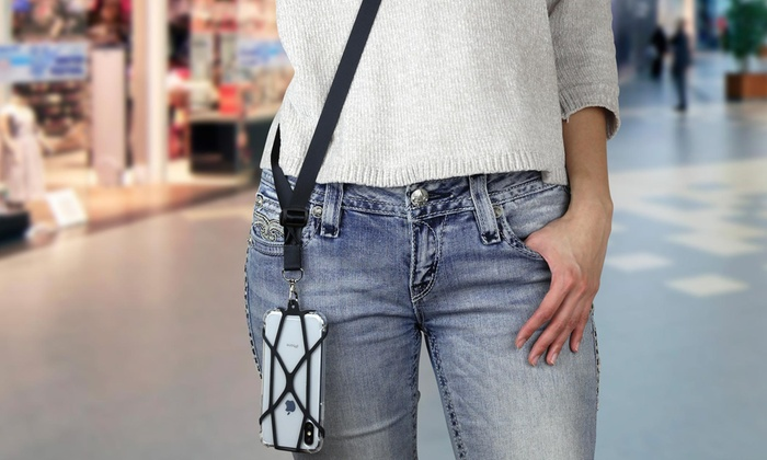 8b3aad3e2827 Up To 23% Off on Crossbody Cell Phone Lanyard | Groupon Goods