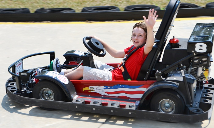 Fast Track Fun Park - Rocky Mount: 5, 10, or 20 Go-Kart, Kidde Kart, or Bumper Boat Rides at Fast Track Fun Park (Up to 52% Off)
