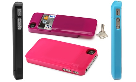 Aduro U-Stash iPhone 4/4S Storage Case in Black, Blue, Pink, or Purple. Free Returns.