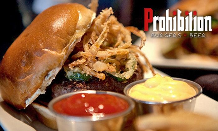 Prohibition Burgers & Beer - Encino: Three-Course Tasting Dinners with Beer Flights for Two or Four at Prohibition Burgers & Beer (Up to 56% Off)