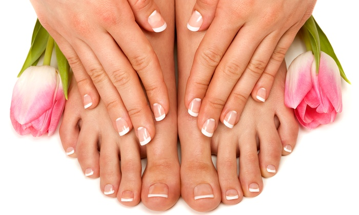 Tips To Toes - Henrietta: Spa Manicure and Pedicure from Tips To Toes (50% Off)