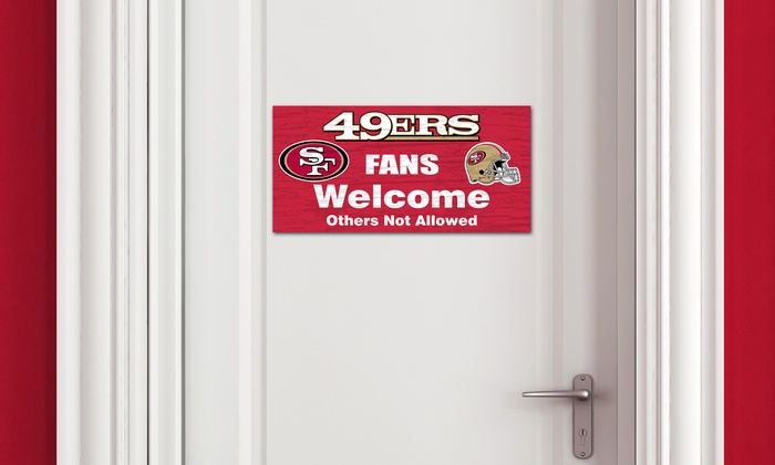 """San Francisco 49ers 12"""" Fans Welcome Sign: San Francisco 49ers 12"""" Fans Welcome Sign"""
