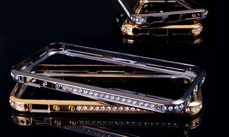 Bumper de aluminio con brillantes para iPhone 5