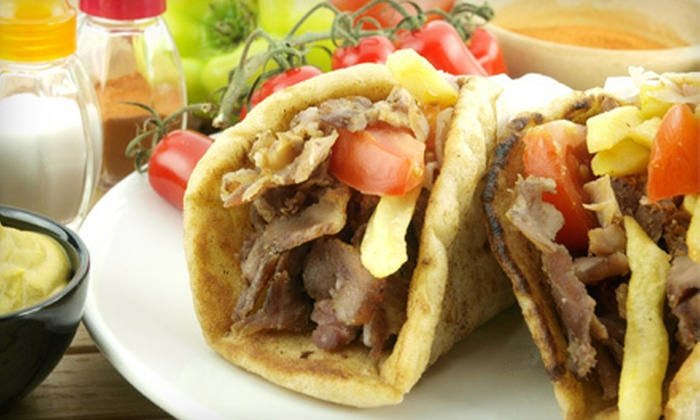 George's Famous Gyros - Multiple Locations: $12 for $24 Worth of Greek Cuisine at George's Famous Gyros