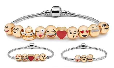 Three- (AED 49), Five- (AED 59) or 10- (AED 69) Charm Emoji Bracelet (Up to 27% Off)