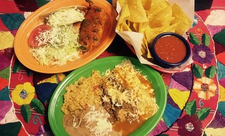 $12for $20Worth of Mexican Dinner Cuisine for Two or More at Estela's Family Cantina