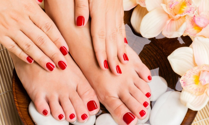Nails By Michelle - Lake Havasu City: No-Chip Manicure and Pedicure Package from Nails By Michelle (50% Off)
