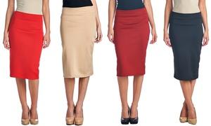 Women's Premium Shaping Stretch Pencil Skirt