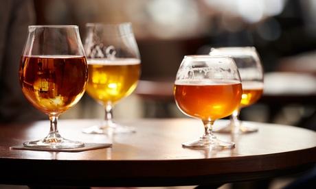 Cata ilimitada de cerveza con visita guiada a la planta y picoteo para 2,4 o 6 personas desde 9,90€ en Cervezas Abadía