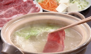 Sapporo Ramen & Shabu Shabu: Shabu-Shabu Japanese Food at Sapporo Ramen & Shabu Shabu (40% Off). Two Options Available.