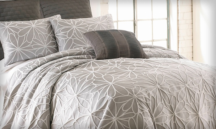 5- or 8-Piece Jacquard Comforter Set: 5- or 8-Piece Jacquard Comforter Set. Multiple Options Available from $69.99–$84.99. Free Returns.