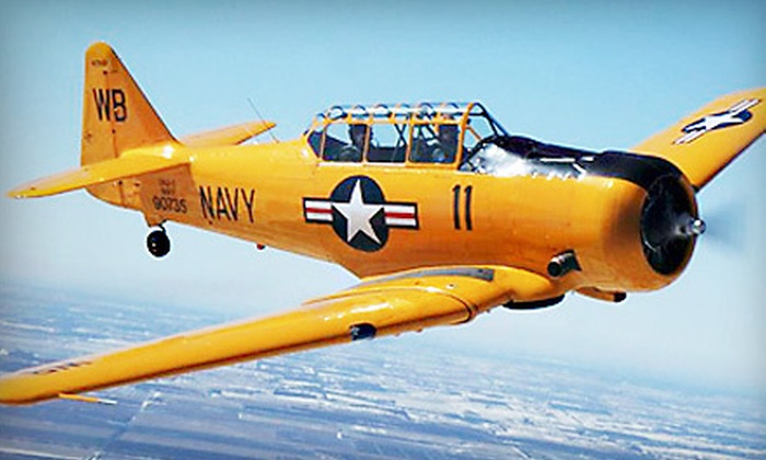 Gauntlet Warbirds - Sugar Grove: Antique-Warplane or Stunt-Craft-Airplane Ride at Gauntlet Warbirds (40% Off)