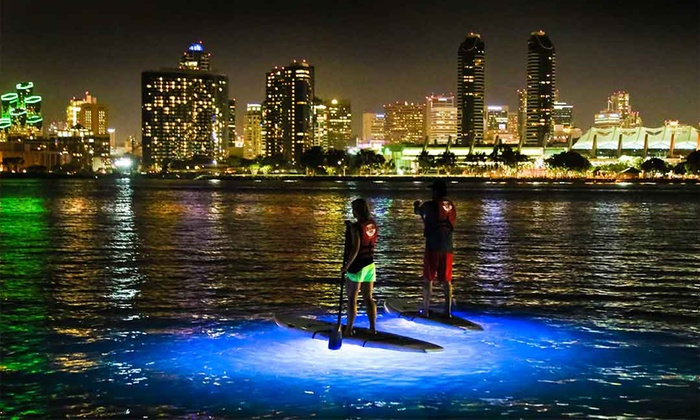 Bike & Kayak Tours - Coronado: Nighttime SUP Tour, SUP Lesson and Rental, or SUP Rental for Two from Bike & Kayak Tours (Up to 53% Off)