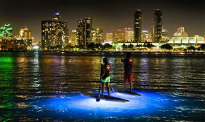 Bike & Kayak Tours: Nighttime SUP Tour, SUP Lesson and Rental, or SUP Rental for Two from Bike & Kayak Tours (Up to 53% Off)