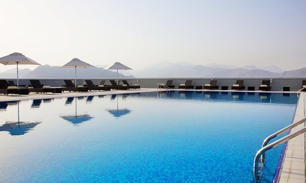 Fujairah: One-Night Stay for Two with Option for Breakfast, Half Board or Full Board at 4* Concorde Hotel