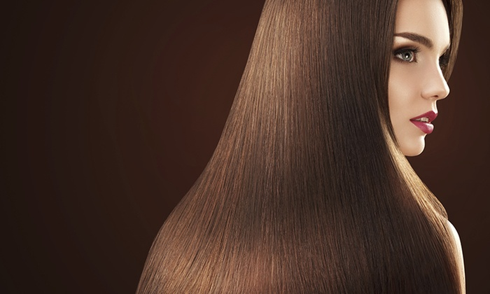 The Salon - Edgewater: Keratin Treatment with Optional Haircut at The Salon (Up to 45% Off)