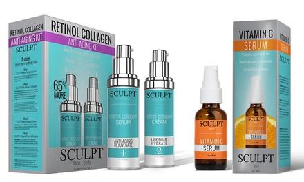 Sculpt Anti-Aging Retinol Collagen and Vitamin C Kit
