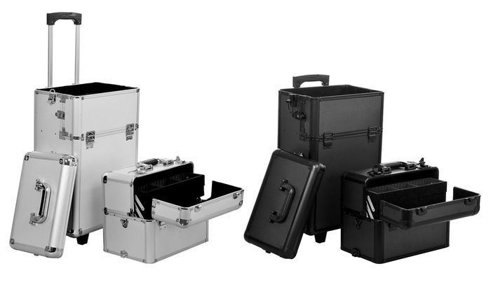 Groupon Goods: 2 in 1 Makeup Train Case (Shipping Included)