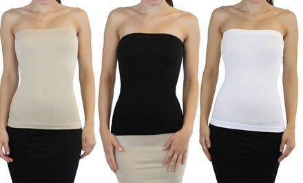 3-Pack of Sleek and Slimming Tube Tops