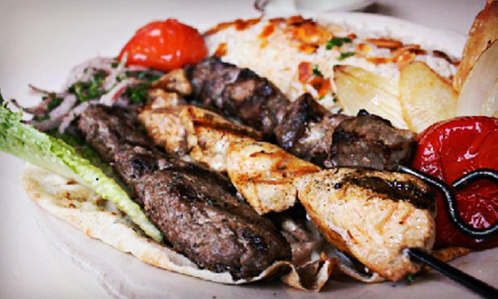 Byblos Cafe & Grill - Multiple Locations: Five Wraps, Sandwiches, or Burgers During Lunch or $10 for $20 Worth of Lebanese Dinner Food at Byblos Cafe & Grill