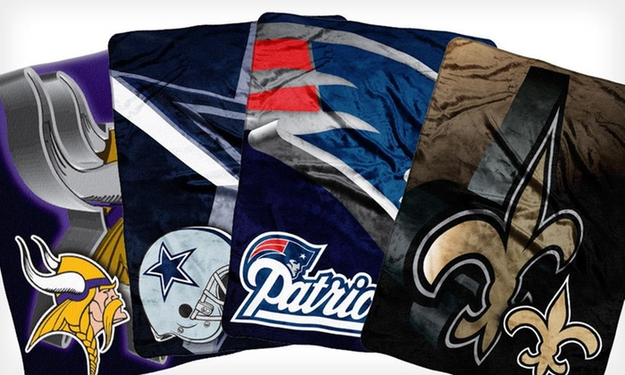 "NFL Micro-Raschel Throw: $24.99 for an NFL 60""x80"" Micro-Raschel Throw ($40.99 List Price). 25 Team Logos Available. Free Shipping."