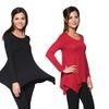 Women's Draped Jersey Tunic Top