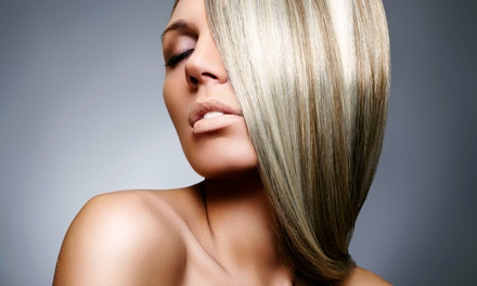 Keratin Smoothing Treatment with Optional Haircut and Style at Up Close Beauty Max (Up to 67% Off)