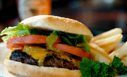 Burgers, Sandwiches, Wings, and Draft Beers at Linden Grill (Up to 55% Off). Two Options Available.