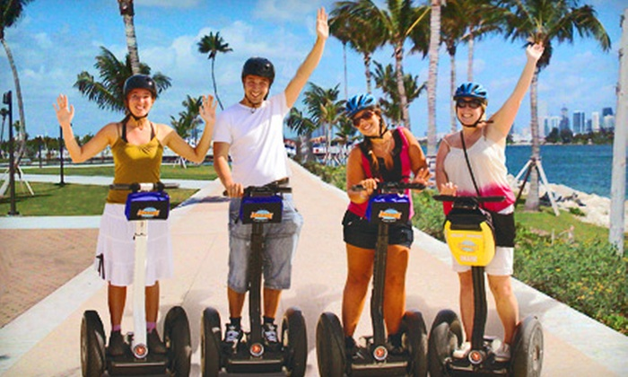 Bike and Roll - Multiple Locations: $34 for a Miami River Segway Tour or a Segways at Sunrise & Sunset Tour from Bike and Roll ($69 Value)