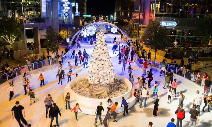Cityscape Phoenix - Downtown Phoenix: Outdoor Ice Skating with Skate Rental for Two, Three, or Four at CityScape Phoenix (Up to 40% Off)