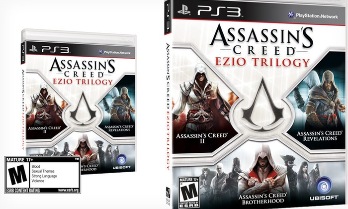 Assassin's Creed: Ezio Trilogy for PS3: $22.99 for Assassin's Creed: Ezio Trilogy for PS3 ($39.99 List Price). Free Shipping and Free Returns.