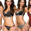 Women's 2-Piece Sultry Bustiers or Bras and Panties