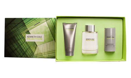 Kenneth Cole Reaction Men's 3-Piece Gift Set with Eau de Toilette, After-Shave Balm, and Deodorant