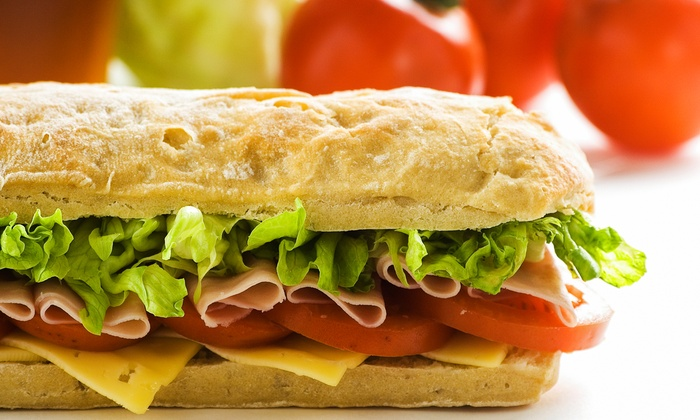 Brickhouse Subs - Pasadena: Sub Combo Meal for Two or Four or One or Two Party Platters from Brickhouse Subs (Half Off)