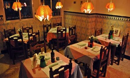 Menú para 2 con entrante, principal, postre y bebida o para llevar con pizza y bebida desde 12,95€ en Trattoria Montiano
