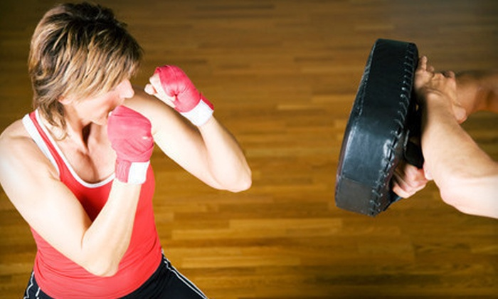 Prime Time Boxing - Multiple Locations: 5 or 10 Boxing-Fitness Classes or One Month of Unlimited Classes at Prime Time Boxing (Up to 82% Off)
