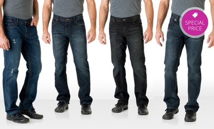Abilene, TX: Seven7 Men's Straight Leg Jeans. Multiple Styles Available.
