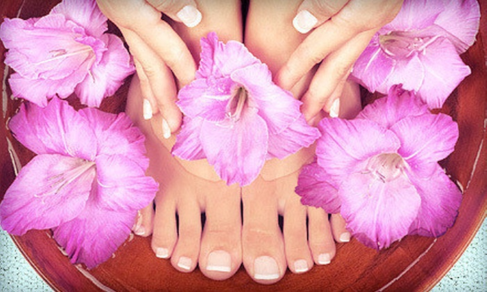 Nails 2 GoGo - Ward 6: Very Cherry or Deluxe Mani-Pedi at Nails 2 GoGo (Up to 54% Off)