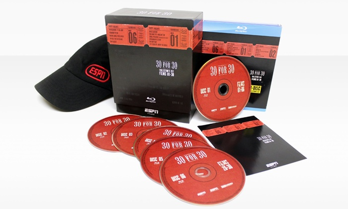 ESPN 30 for 30 Blu-ray Collector's Set with ESPN Hat: ESPN 30 for 30 Blu-ray Collector's Set with ESPN Hat. Free Shipping and Returns.