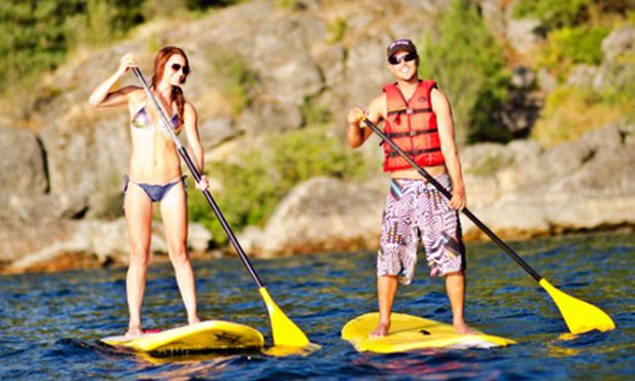 ROW Adventure Center - Downtown Coeur d'Alene: $49 for a Two-Hour Standup-Paddleboard Lesson and a Two-Hour Rental from ROW Adventure Center ($104 Value)