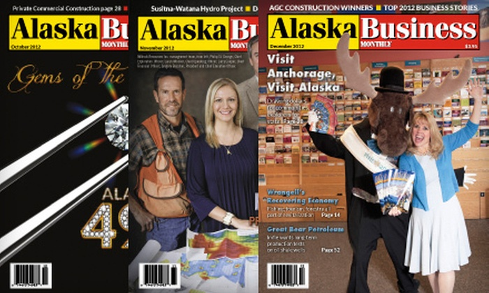 "Alaska Business Monthly - Anchorage: One- or Two-Year Print Subscription to ""Alaska Business Monthly"" (Up to 62% Off)"
