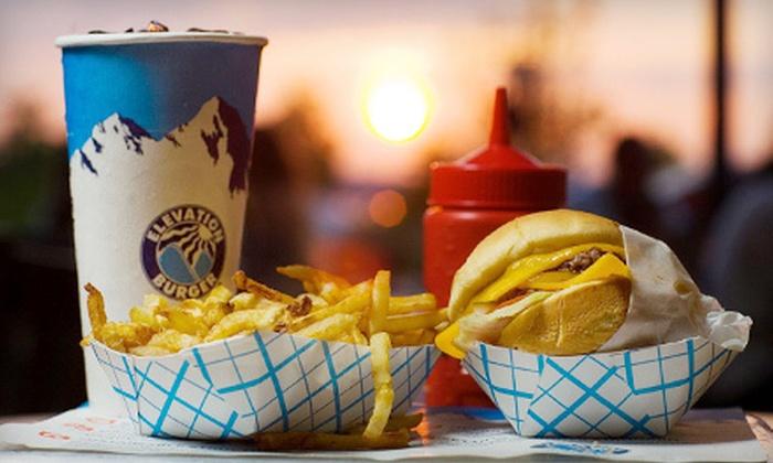 Elevation Burger - Rhodes Ranch: $10 for $20 Worth of Organic Burgers and Shakes at Elevation Burger
