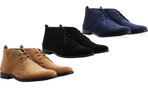 Derbies ou bottes en cuir suédé